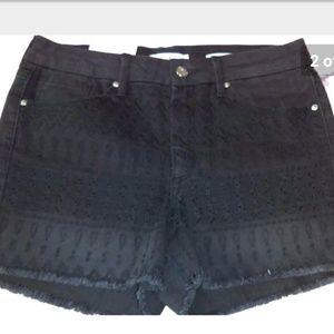 Jessica Simpson High Rise Cutoff Black Jean Shorts